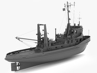 3d model ship tugboat landtief