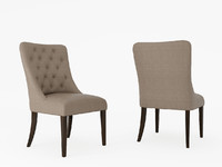3d model chair fabric