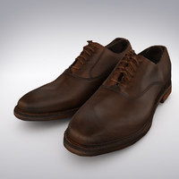 3d men s brown leather