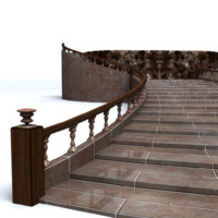 3d stairs mentalray model