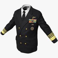 3d model of admiral jacket