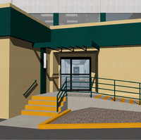 hospital north hollywood medical 3d model