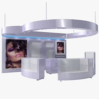Cosmetics Display Kiosk