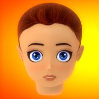 c4d manga head