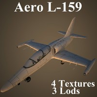 aero low-poly aircraft 3d max