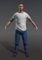 male character casual 3d 3ds