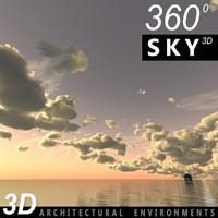 Sky 3D Sunset 035