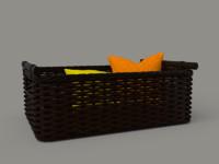 3d wicker bsket model