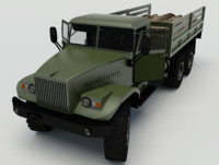 3d model kraz 255 logs rigged