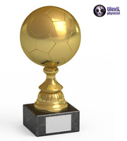 trophy soccer ball 3d obj