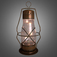 3d oil lantern glass