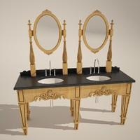 max double mirror rustic