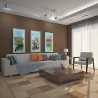 3d max interior scene living room