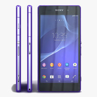 3d model sony xperia z2 purple