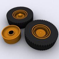 3d truck tire rim
