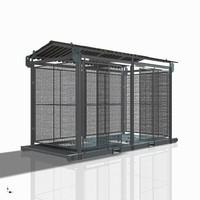 3d skid cabinets model