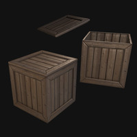 - closed crate 3d fbx
