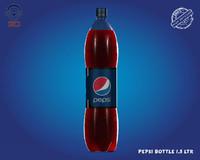 3dsmax realistic pepsi bottle 1