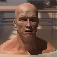 arnold schwarzenegger head male man 3d model
