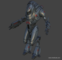 3ds max sci-fi mech warrior