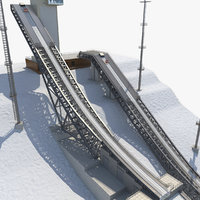 ski jumping center ramp 3d model