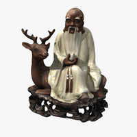 3d model deer god longevity
