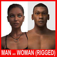 max realistic man woman rigged
