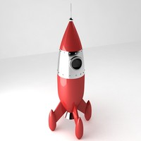 retro rocket 3d 3ds