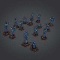 free zombie hand painted 3d model