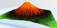 Erupted Mountain