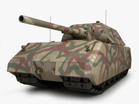 3d model maus german tank 1