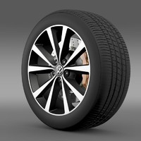 volkswagen polo wheel 3d 3ds