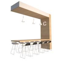 3d chair table unit