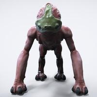 c4d alien creature