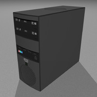 3d computer tower pc model