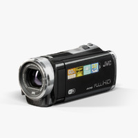 3d max low-poly jvc ex310 black
