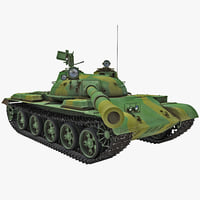 T-62 Soviet Main Battle Tank Rigged