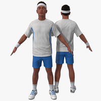 tennis player rigged 3 3d max