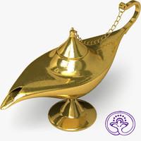 3d aladdin lamp b