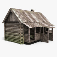 old wooden house 3ds