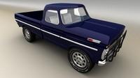 pickup car 3d model