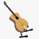 Acoustic Bass 3D models