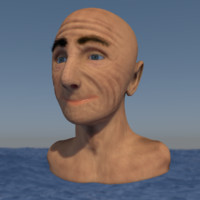 3d model portrait old