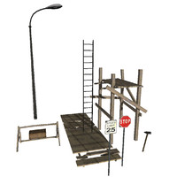 3d iron construction packs model