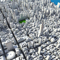 3d model of new york manhattan midtown