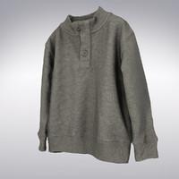 men s button collar 3d model