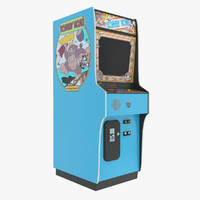 3d model donkey kong arcade machine