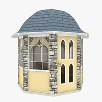 3d gazebo arabic style model