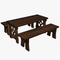 medieval furniture 3d 3ds
