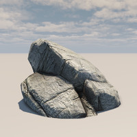 rocky cliff 3d max
